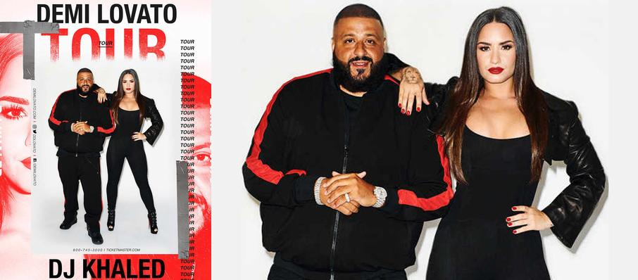 Demi Lovato and DJ Khaled at Target Center