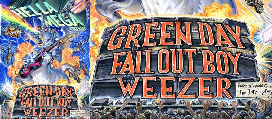 Green Day with Fall Out Boy and Weezer at Target Field