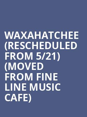 Waxahatchee (Rescheduled from 5/21) (Moved from Fine Line Music Cafe) at The Cedar