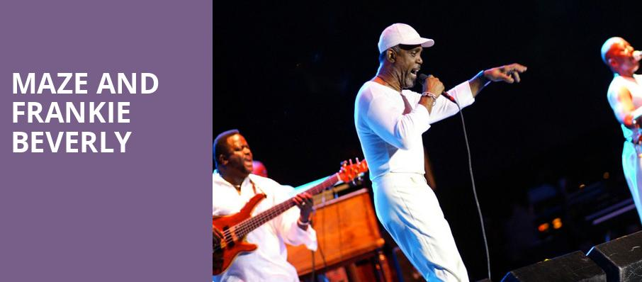 Maze and Frankie Beverly, Orpheum Theater, Minneapolis