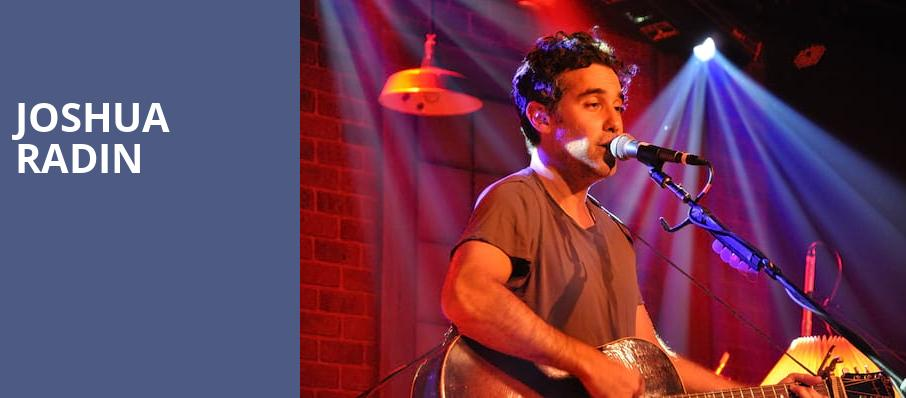 Joshua Radin, Pantages Theater, Minneapolis