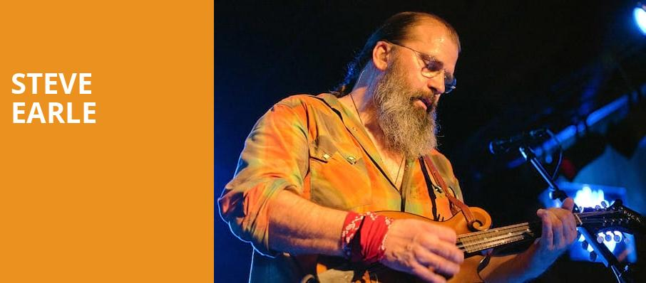 Steve Earle, Pantages Theater, Minneapolis